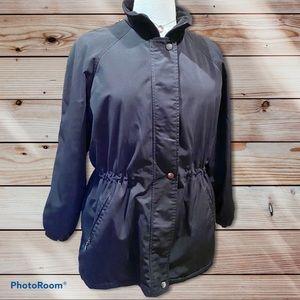 XL Liz Claiborne black three season coat